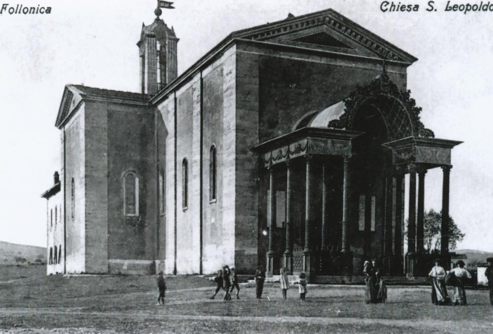 chiesa della ghisa san leopoldo, foto storica follonica