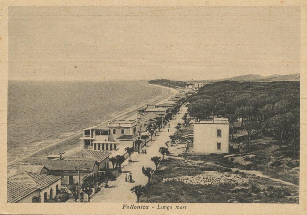 foto storica lungomare follonica, vacanza mare toscana