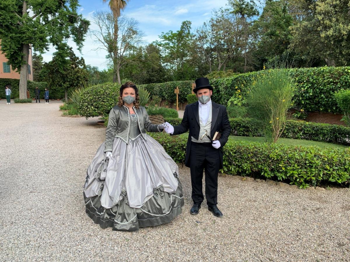 giardino villa storica toscana al mare, evento rappresentazione d'epoca