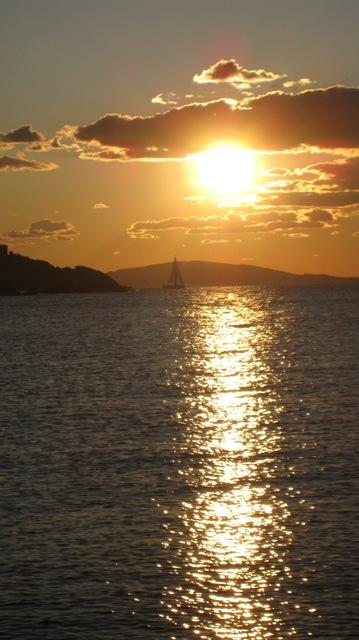 Il golfo di Follonica al tramonto