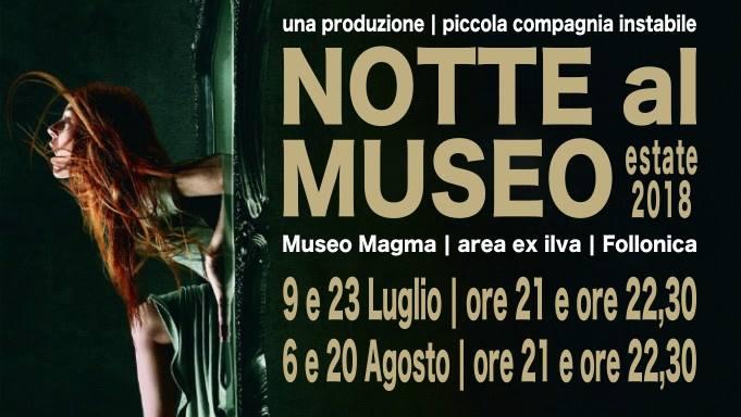 Museo magma in notturna estate 2018