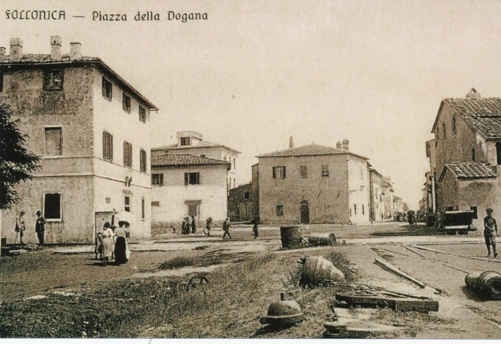 piazza a mare dogana, foto storica follonica