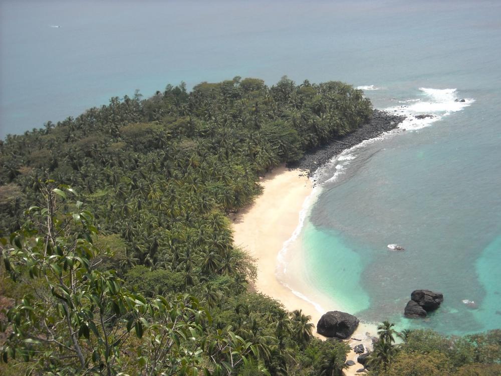 Turismo sostenibile nell'isola di principe a Sao tomè e principe