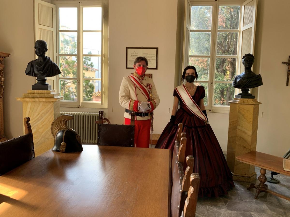 rappresentazioni storiche in villa storica al mare toscana