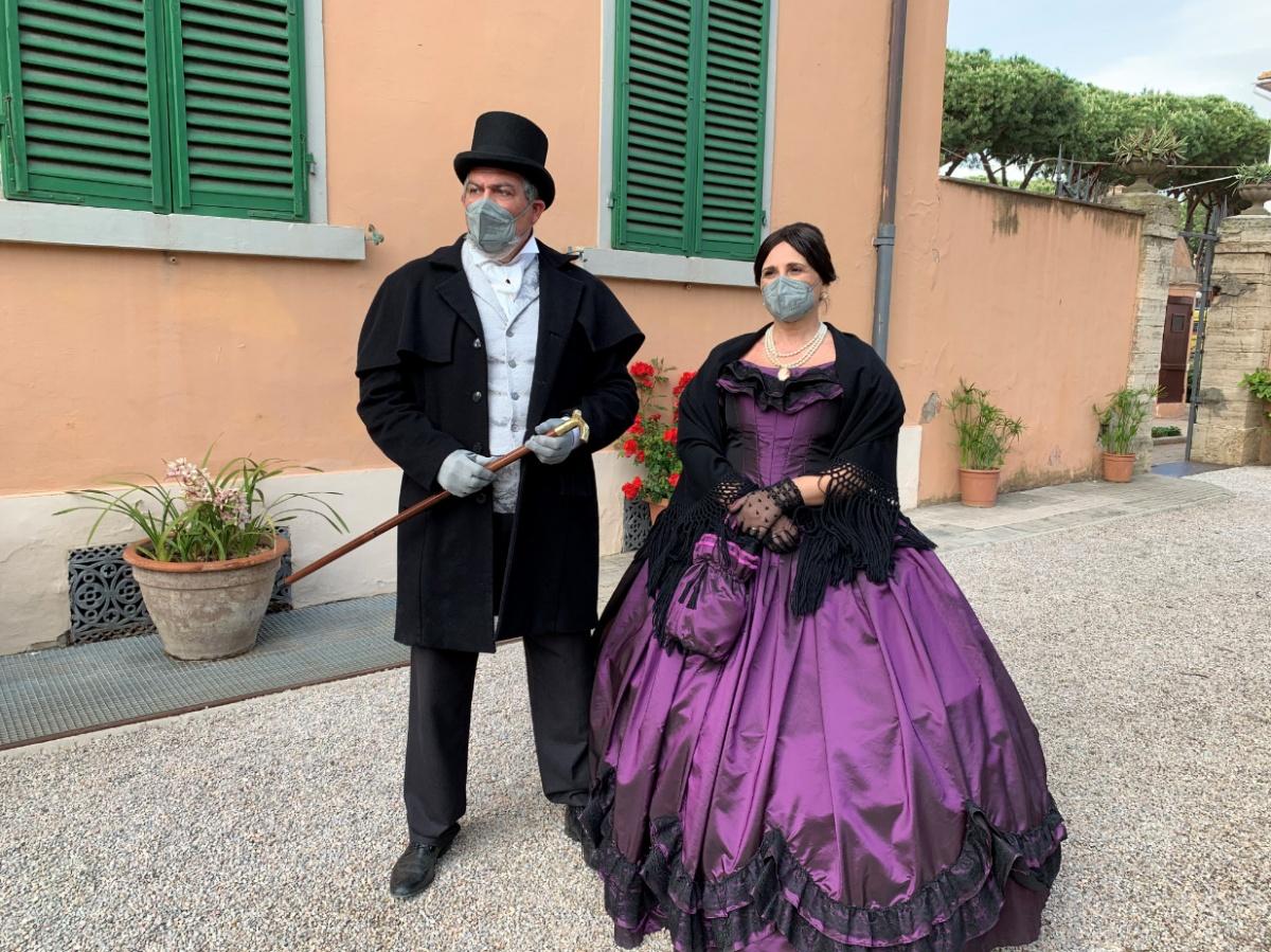 rievocazione storica in toscana, in villa storica al mare