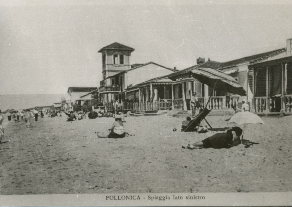 spiaggia di follonica foto storica