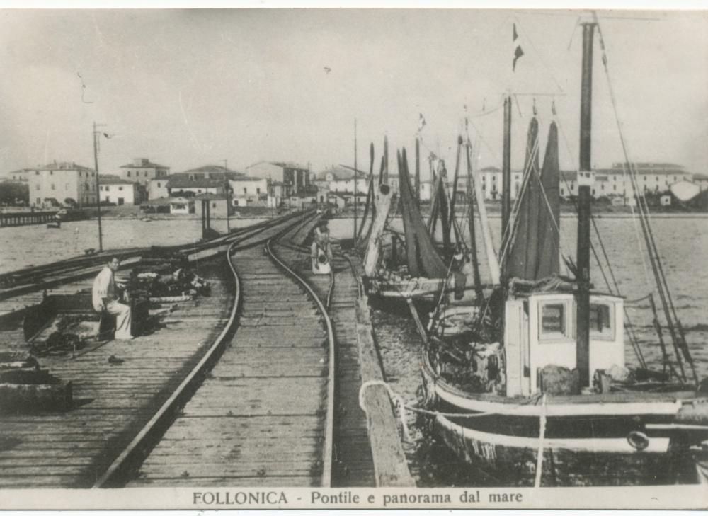vecchio pontile di follonica, foto storica